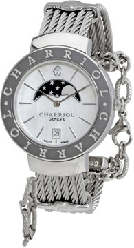 Charriol St-Tropez Ladies Mother Of Pearl Watch