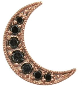 Andrea Fohrman Black Diamond Mini Crescent Stud Earring