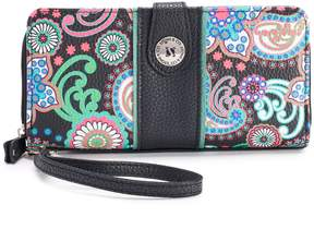 Co Stone & Paisley Pebbled Leather Large Tab Wallet