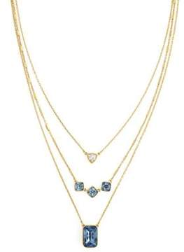 Cole Haan Aurora Sky Crystal Try Layered Necklace