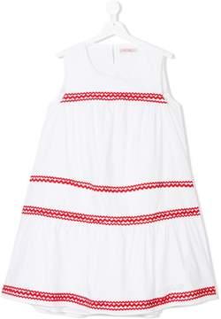 Miss Blumarine TEEN contrast trimming dress