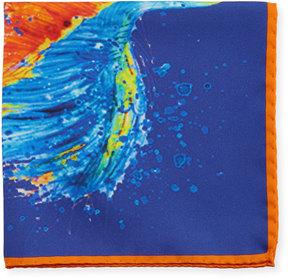 Bugatchi Watercolor-Print Silk Pocket Square