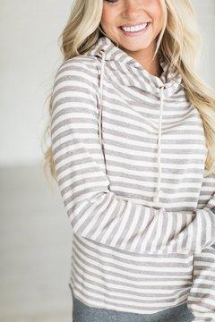 Ampersand Avenue CowlHood Sweatshirt - Lavender