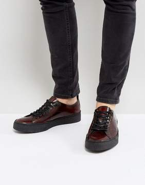 Fred Perry X George Cox Creeper Leather Shoes in Red