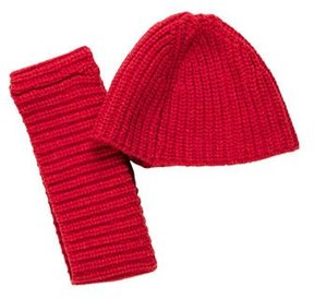 Dries Van Noten Wool Beanie & Scarf Set