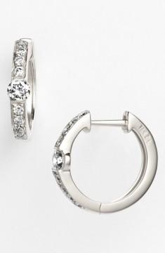 Bony Levy Women's 'Linea' Small Diamond Hoop Earrings (Nordstrom Exclusive)