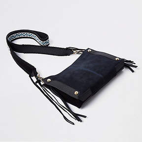River Island Navy woven strap cross body bag