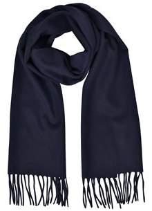 Mila Schon Women's Blue Cashmere Scarf.