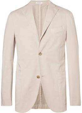 Boglioli Sand Unstructured Stretch Cotton And Linen-Blend Suit Jacket