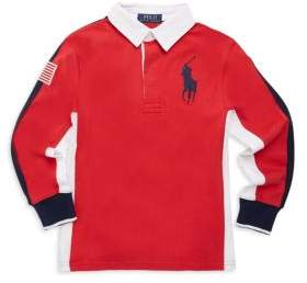 Ralph Lauren Toddler's, Little Boy's & Boy's Cotton Jersey Rugby Top