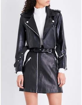 Claudie Pierlot Cactus leather biker jacket