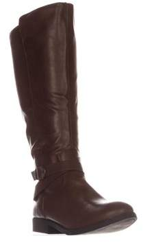 Style&Co. Sc35 Madixe Wide-calf Riding Boots, Cognac.