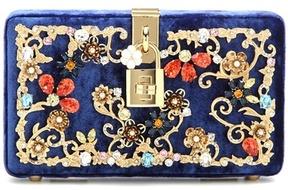 Dolce & Gabbana Dolce Box embellished velvet box clutch