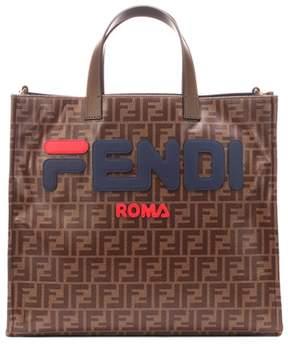 Fendi Logo appliqué shopper
