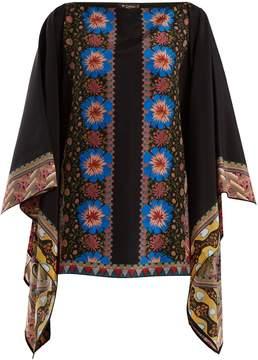 Etro Floral-print silk-georgette top