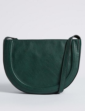 Marks and Spencer Faux Leather Half Moon Cross Body Bag