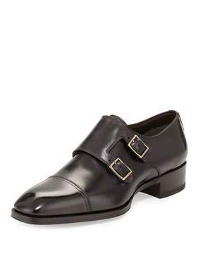 Tom Ford Gianni Double-Monk Strap Loafer, Gray