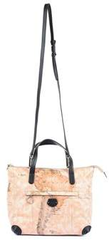 Alviero Martini Women's Beige/black Polyurethane Handbag.