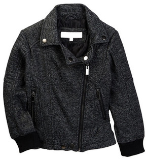 Urban Republic Melange Fleece Moto Jacket (Big Girls)