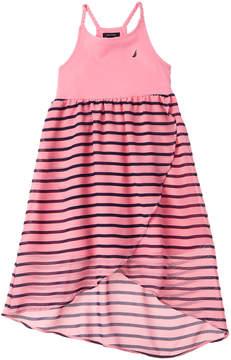 Nautica Girls' Stripe Chiffon Dress