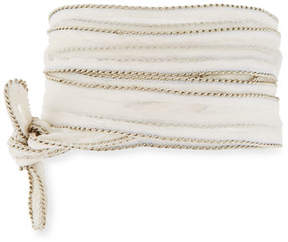 Chan Luu Chain-Trim Fabric Necklace