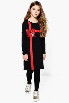 boohoo Girls Present Bodycon Dress