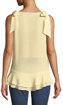Cynthia Steffe Cece By V-Neck Layered Crepe Blouse