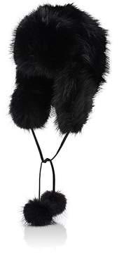 Barneys New York Women's Fur Trapper Hat