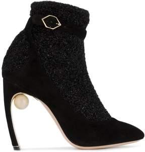 Nicholas Kirkwood Black Lola Pearl 105 Sock Boots