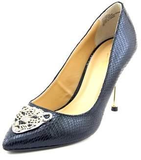 Thalia Sodi Jullisa Women Pointed Toe Canvas Black Heels.