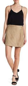 BCBGeneration Faux Suede Wrap Miniskirt