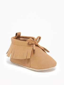 Old Navy Sueded Fringe Moccasins for Baby