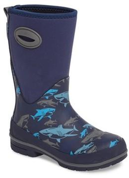 Western Chief Boy's Neoprene Shark Attack Waterproof Snow Boot