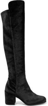 Stuart Weitzman Lowjack Stretch-velvet Knee Boots - Black