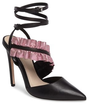 Topshop Women's Grill Frill Ankle Strap Pump
