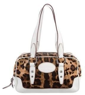Dolce & Gabbana Leather-Trimmed Shoulder Bag