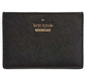 Kate Spade Women's Cameron Street Card Holder - Black - BEIGE - STYLE
