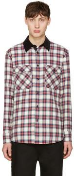 Rag & Bone Blue and Red Plaid Jack Shirt