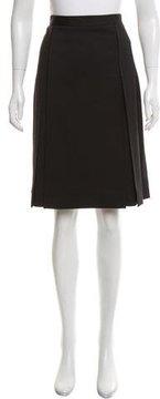 Celine Wool-Blend Pleated Skirt