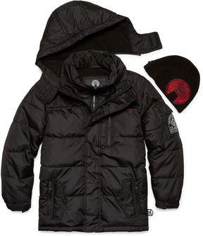 Weatherproof Heavyweight Puffer Jacket with Beanie - Boys Preschool 4-7