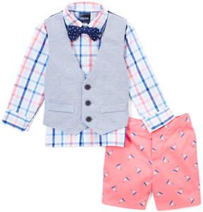Izod Confetti Plaid Button-Up & Vest Set - Toddler