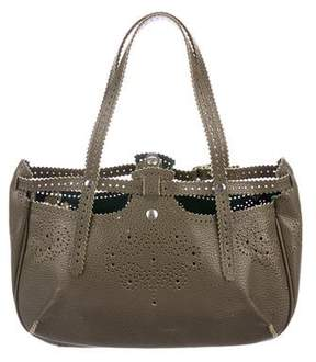 Jamin Puech Perforated Leather Shoulder Bag