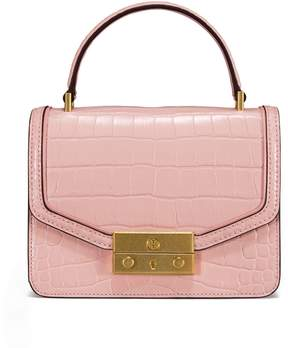 Tory Burch JULIETTE EMBOSSED MINI TOP-HANDLE SATCHEL - CLAY PINK - STYLE