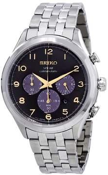 Seiko Core Solar Chronograph Black Sunray Dial Men's Watch