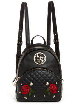 GUESS Ryann Embroidered Rose Backpack
