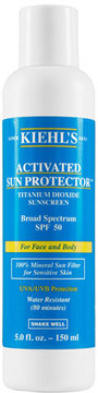 Kiehl's Since 1851 Activated Sun Protector 100% Mineral Sunscreen Broad Spectrum SPF 50, 5.0 oz.