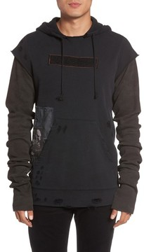 Hudson Men's Leon Slim Fit Patchwork Hoodie
