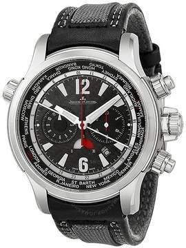 Jaeger-LeCoultre Jaeger Lecoultre Master Compressor Automatic Black Dial Black Leather Men's Watch