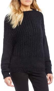 Chelsea & Violet C&V Cable Eyelash Sweater