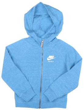 Nike Little Girls' (4-6X) Gym Vintage Full Zip Hoodie-Heather Blue-6x
